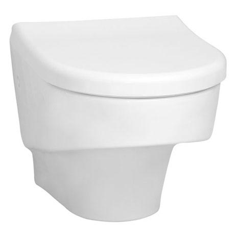 Vitra - S50 Compact Wall Hung Toilet Pan with Seat