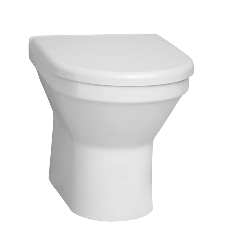 Vitra - S50 Model Back to Wall Toilet Pan - with 2 x Seat Options Large Image