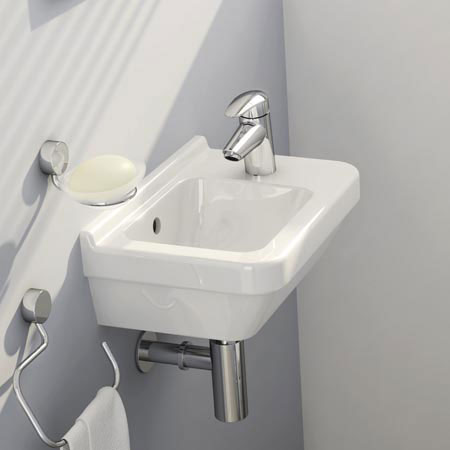 Vitra - S50 Compact Cloakroom Basin 40cm - 1 Tap Hole Profile Large Image