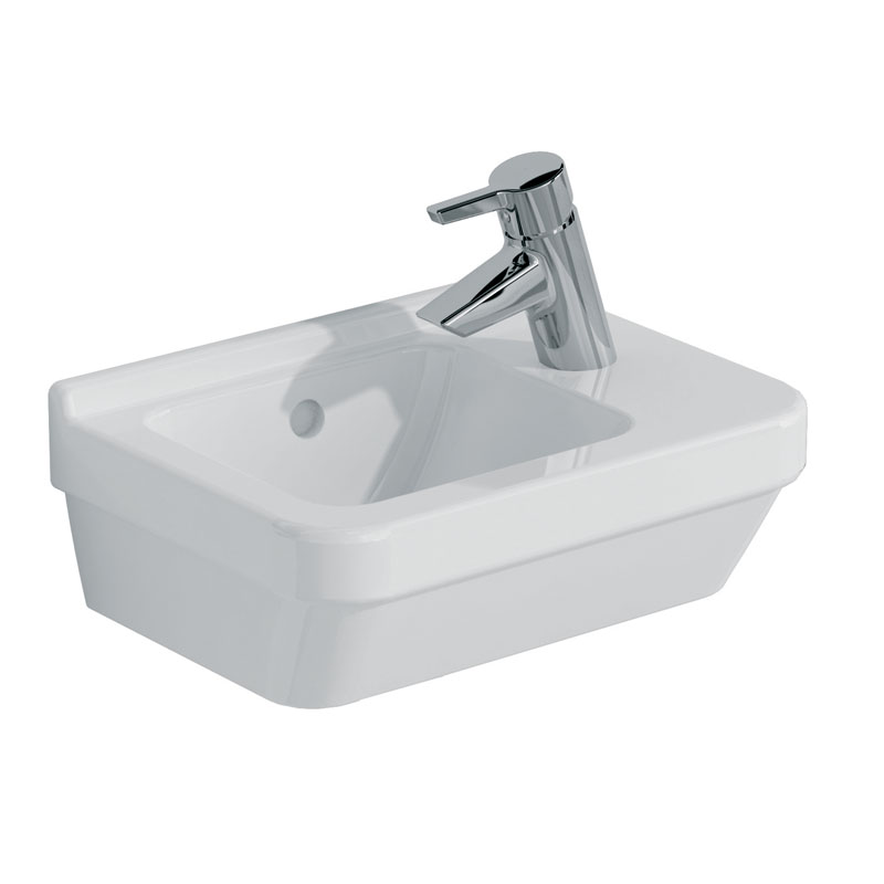 Vitra - S50 Compact Cloakroom Basin 40cm - 1 Tap Hole Large Image
