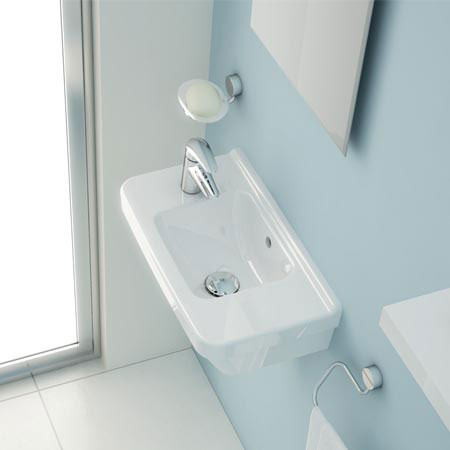 Vitra - S50 Compact Cloakroom Basin 50cm - 1 Tap Hole - Left or Right Hand Tap Hole Option Profile Large Image