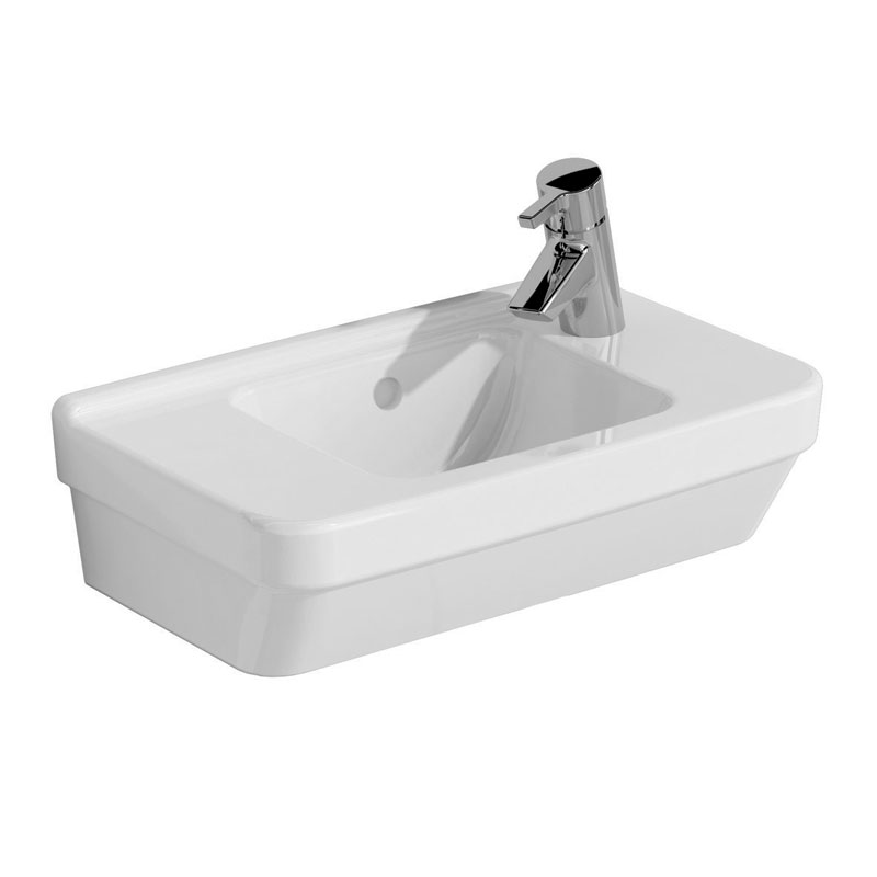 Vitra - S50 Compact Cloakroom Basin 50cm - 1 Tap Hole - Left or Right Hand Tap Hole Option Large Image