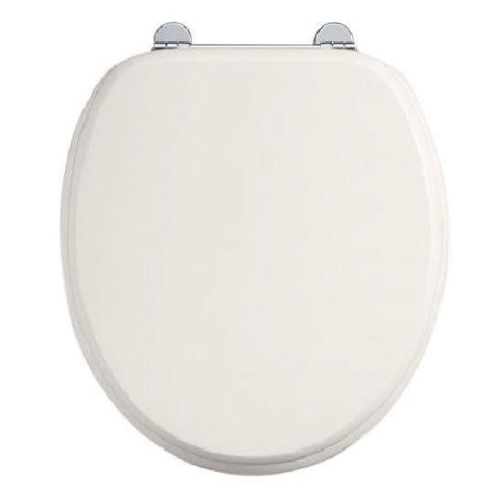 Burlington Soft Close Toilet Seat with Chrome Hinges - Medici