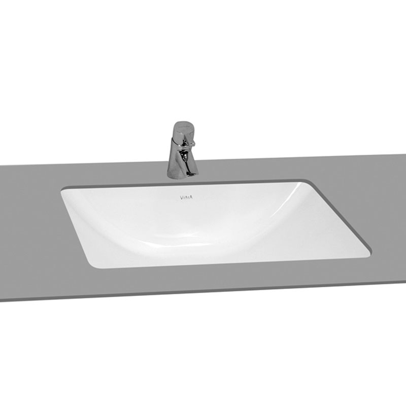 Vitra - S50 Projects 53cm Rectangular Undercounter Basin - 0 Tap Hole Large Image