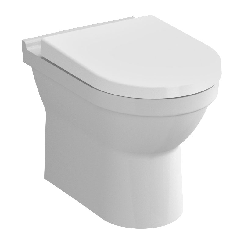 Vitra S50 Model Rimless Back To Wall Toilet Pan With 2