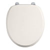 Burlington Soft Close Toilet Seat with Chrome Hinges - Medici profile small image view 1