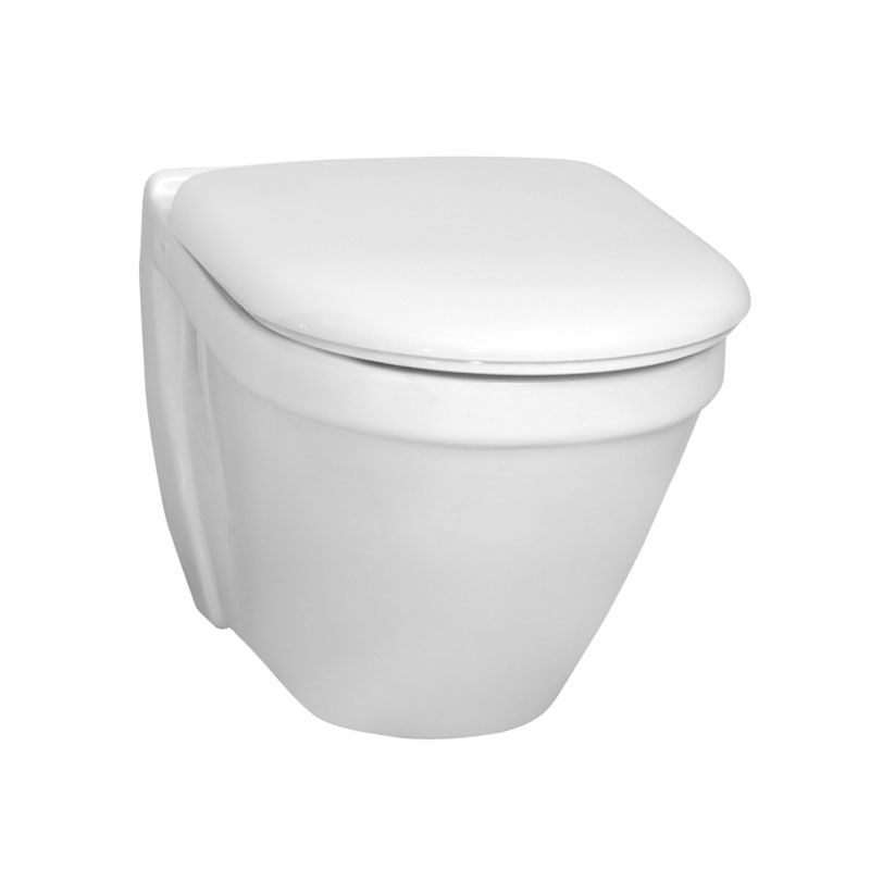Vitra - S50 Model Wall Hung Short Projection (48cm) Pan - 2 x Seat Options Large Image