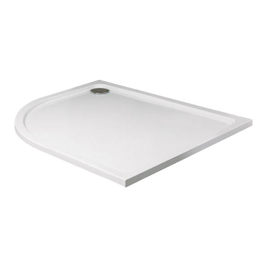JT40 Fusion Offset Quadrant Anti-Slip Shower Tray with Waste - Left Hand - Various Size Options Large Image