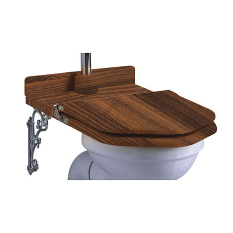 Burlington Throne Seat for High Level Toilet - Walnut - S52