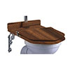 Burlington Throne Seat for High Level Toilet - Walnut - S52 profile small image view 1
