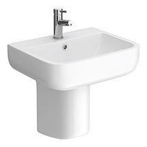 RAK Series 600 52cm Basin + Half Pedestal Medium Image