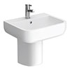 RAK Series 600 52cm Basin + Half Pedestal profile small image view 1