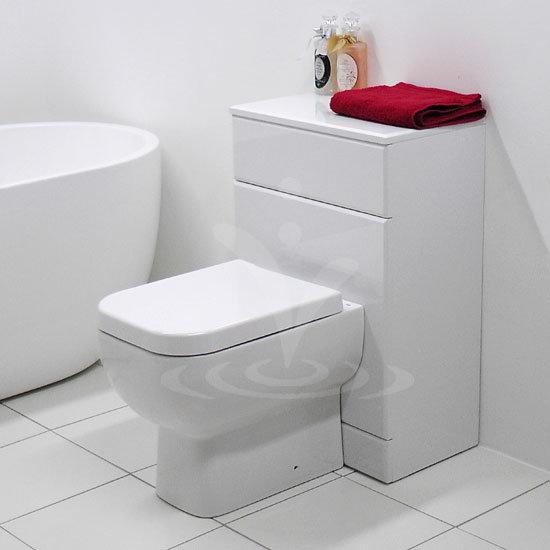 RAK Series 600 Gloss White BTW Toilet Unit inc Cistern & Soft Close Seat - 2 Size Options Profile Large Image