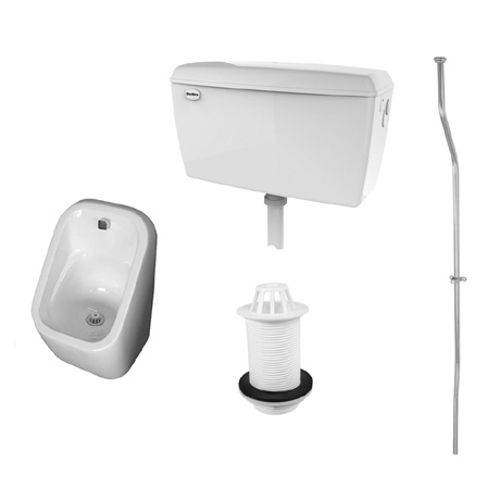 RAK Concealed Urinal Pack with 1 Series 600 Urinal Bowl