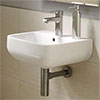 RAK Series 600 Cloakroom Hand Basin Sink 40cm 1TH - S60040BAS1 profile small image view 1