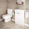 RAK Series 600 Toilet Inc. Soft Close Seat + White Compact Vanity Unit profile small image view 1