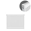 Type 11 H600 x W500mm Compact Single Convector Radiator - S605K profile small image view 1