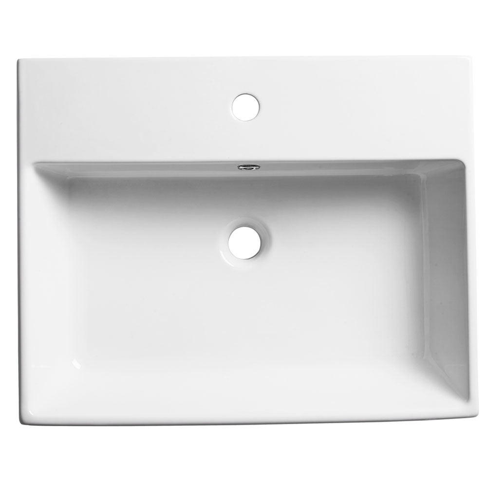 Roper Rhodes Statement 600mm Wall Mounted or Countertop Basin - S60SB profile large image view 1