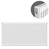 Type 11 H600 x W1000mm Compact Single Convector Radiator - S610K profile small image view 1