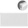 Type 11 H600 x W1200mm Compact Single Convector Radiator - S612K profile small image view 1