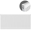 Type 11 H600 x W1300mm Compact Single Convector Radiator - S613K profile small image view 1