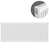 Type 11 H600 x W1400mm Compact Single Convector Radiator - S614K profile small image view 1