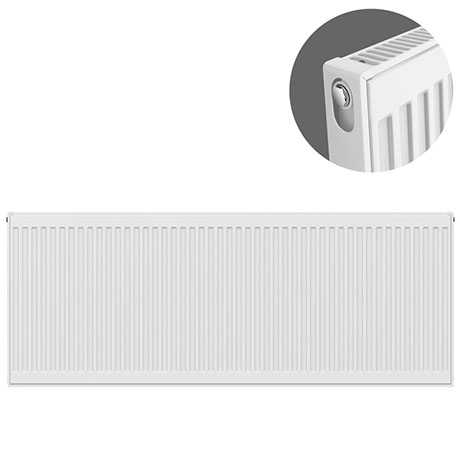 Type 11 H600 x W1600mm Compact Single Convector Radiator - S616K