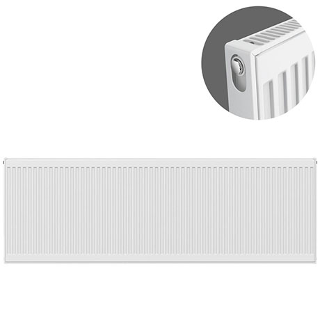 Type 11 H600 x W2400mm Compact Single Convector Radiator - S624K