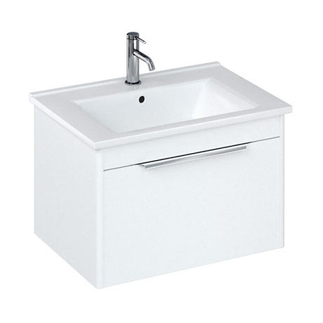 Britton Shoreditch 650mm Wall-Hung Single Drawer Vanity Unit - Matt White