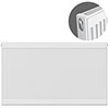 Type 11 H750 x W1800mm Compact Single Convector Radiator - S718K profile small image view 1