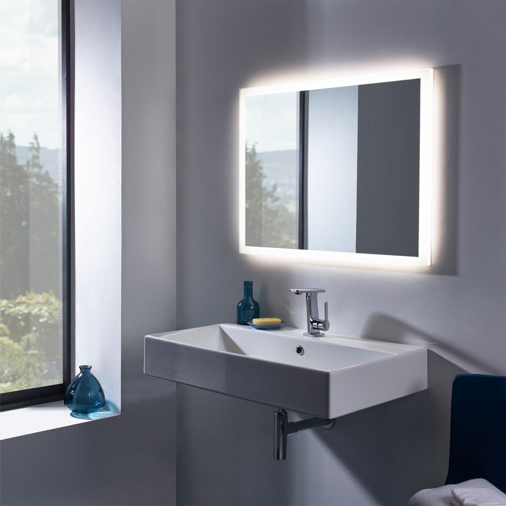 Roper Rhodes Statement 800mm Wall Mounted or Countertop Basin - S80SB profile large image view 2