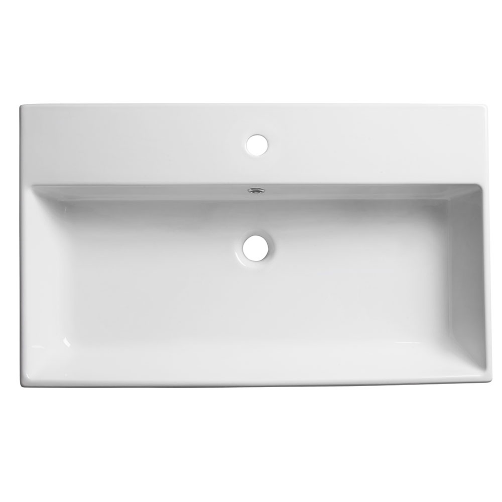 Roper Rhodes Statement 800mm Wall Mounted or Countertop Basin - S80SB Large Image