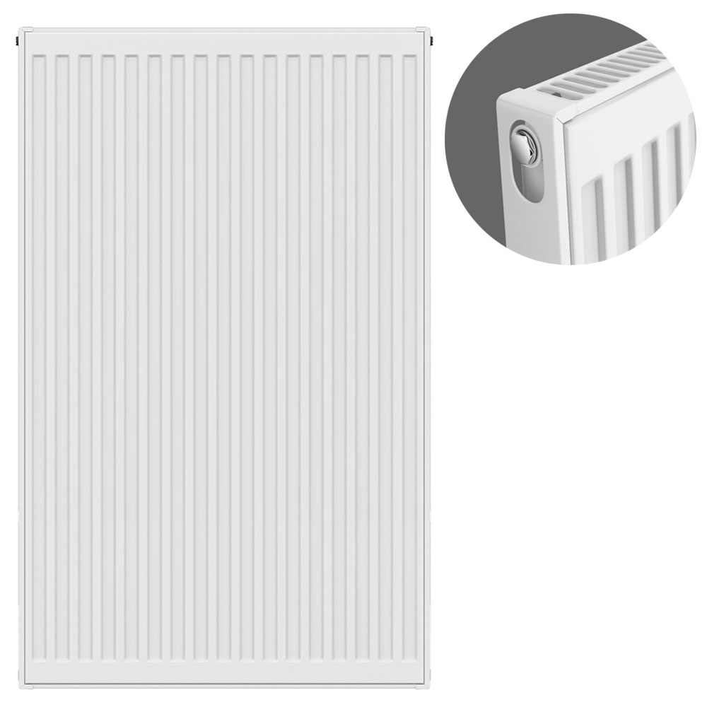 Type 11 H900 x W600mm Compact Single Convector Radiator - S906K