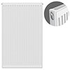 Type 11 H900 x W600mm Compact Single Convector Radiator - S906K profile small image view 1
