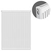 Type 11 H900 x W700mm Compact Single Convector Radiator - S907K profile small image view 1