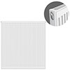 Type 11 H900 x W900mm Compact Single Convector Radiator - S909K profile small image view 1