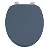 Burlington Soft Close Toilet Seat with Chrome Hinges - Blue profile small image view 1