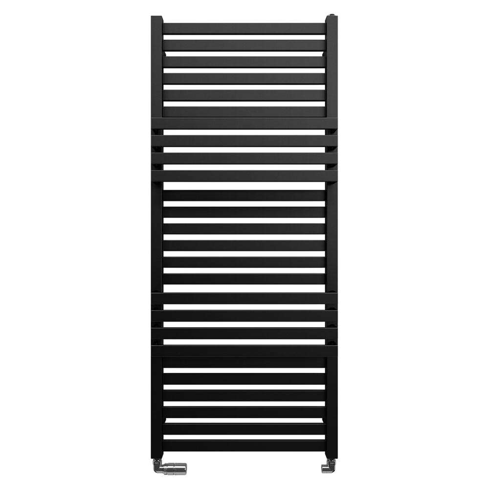 Bauhaus Seattle Towel Rail - 500 x 1185mm - Metallic Black Matte Large Image