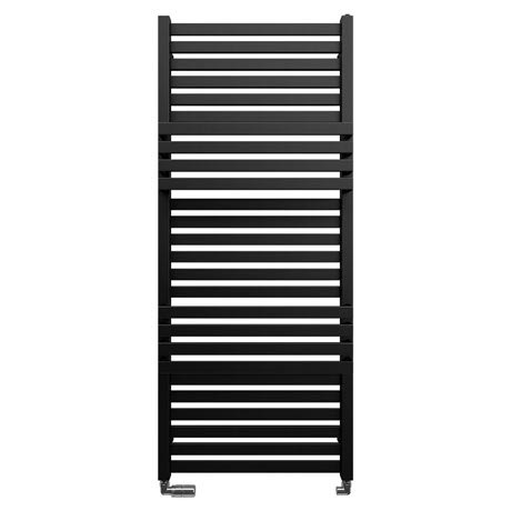 Bauhaus Seattle Towel Rail - 500 x 1185mm - Metallic Black Matte