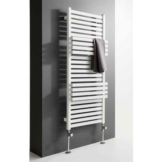 Bauhaus Seattle Towel Rail - 500 x 1185mm - Soft White Matte Feature Large Image