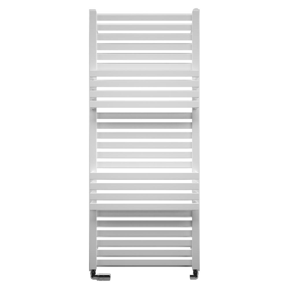 Bauhaus Seattle Towel Rail - 500 x 1185mm - Soft White Matte Large Image