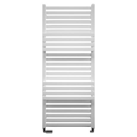 Bauhaus Seattle Towel Rail - 500 x 1185mm - Soft White Matte