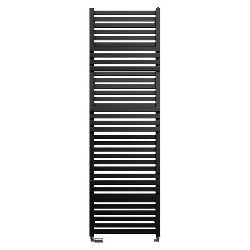 Bauhaus Seattle Towel Rail - 500 x 1635mm - Metallic Black Matte