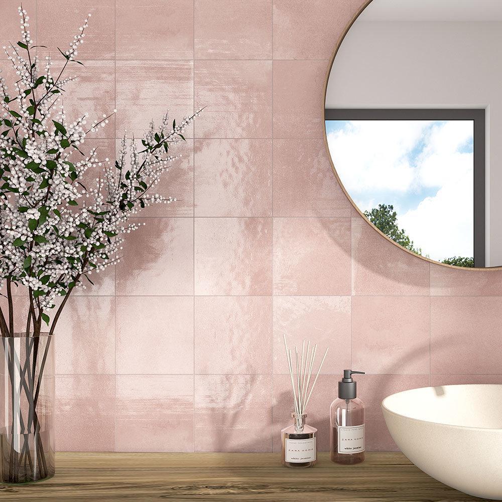 Safina Dusky Pink Wall & Floor Tiles - A Refreshing Bathroom Makeover Idea