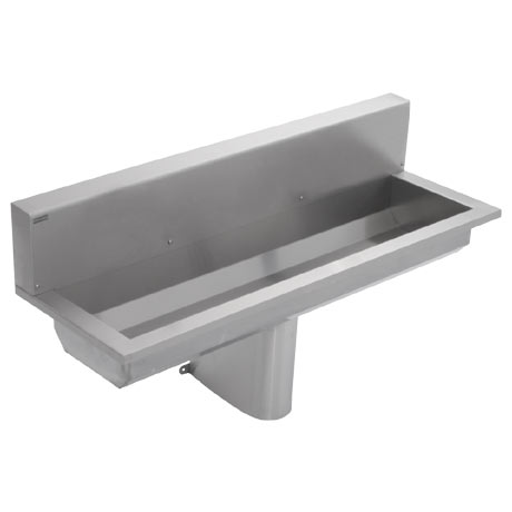 Franke Saturn SANX120SB 1200mm Stainless Steel Washtrough with Splashback and No Tapholes