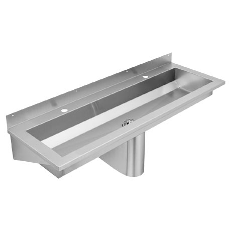 Franke Saturn SANX120 1200mm Stainless Steel Washtrough with Tap Landing and 2 Tapholes