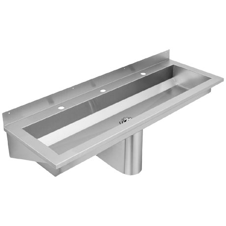 Franke Saturn SANX180 1800mm Stainless Steel Washtrough with Tap Landing and 3 Tapholes