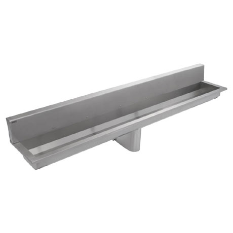 Franke Saturn SANX240SB 2400mm Stainless Steel Washtrough with Splashback and No Tapholes