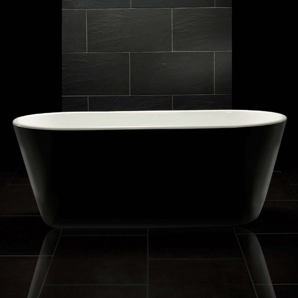 Royce Morgan Sapphire Black 1650 Luxury Freestanding Bath profile large image view 2