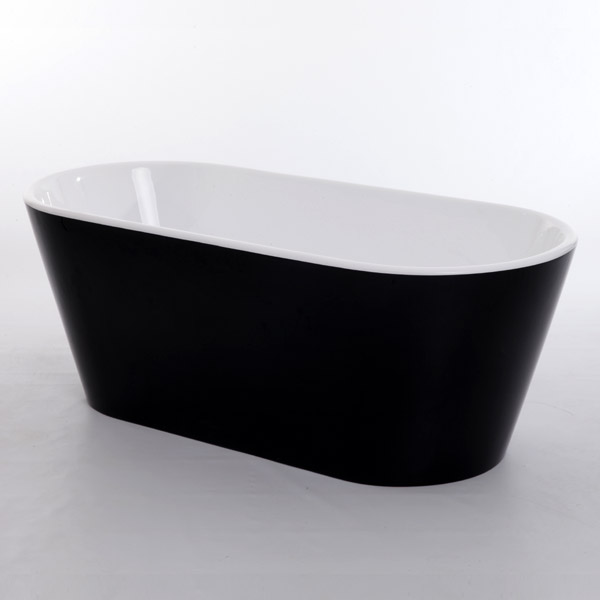 Royce Morgan Sapphire Black 1650 Luxury Freestanding Bath
